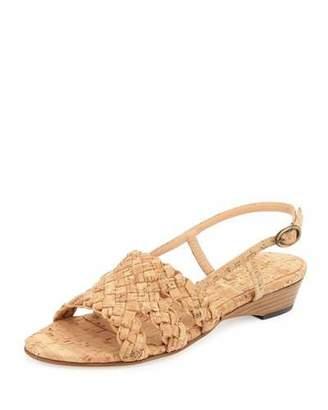 Sesto Meucci Gennie Woven Cork Slingback Sandal, Natural