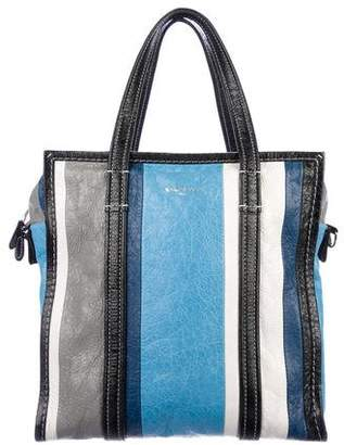 Balenciaga Small Striped Bazaar Tote
