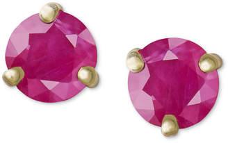 Macy's 14k Gold Earrings, Ruby Stud (1 ct. t.w.)