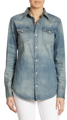 Ralph Lauren Collection Iconic Denim Western Shirt $790 thestylecure.com