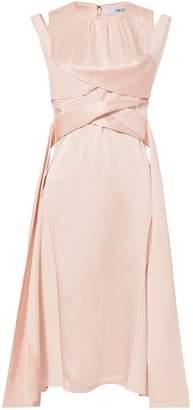 Adeam Scarf Panel Twist Dress