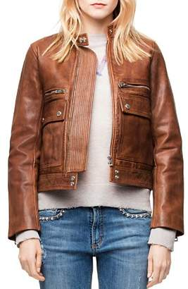 Zadig & Voltaire Love Leather Aviator Jacket