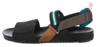 Fendi Woven Slingback Sandals