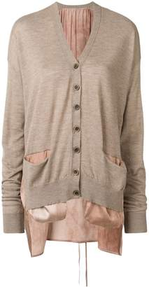 UMA WANG v-neck layered cardigan