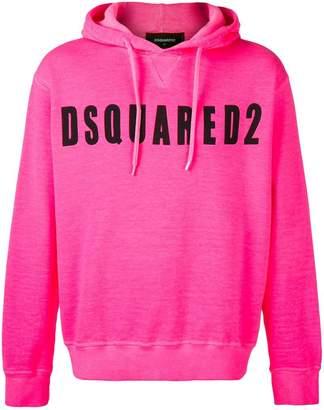 DSQUARED2 logo printed hoodie