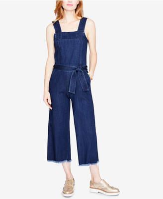 Rachel Roy Cotton Cropped Denim Jumpsuit, Created for Macy's