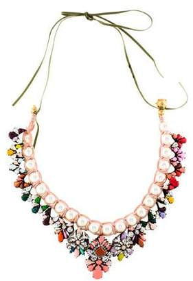 Shourouk Faux Pearl & Crystal Marisa Necklace