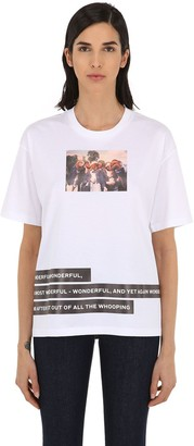 Burberry Photo Print Cotton Jersey T-Shirt
