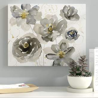 Ebern Designs 'Sketching in Spring' Oil Painting Print on Wrapped Canvas