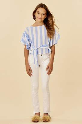Habitat Striped Belted Top