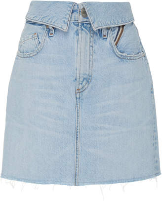 Atelier Jean Flip High-Rise Denim Mini Skirt
