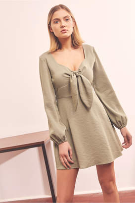 The Fifth INTERCITY LONG SLEEVE DRESS sage