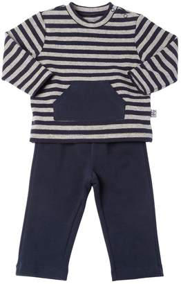 Il Gufo Striped Cotton Sweatshirt & Sweatpants