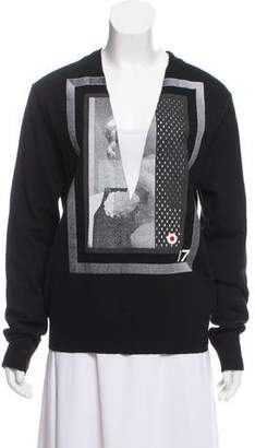 Givenchy Printed V-Neck Sweater