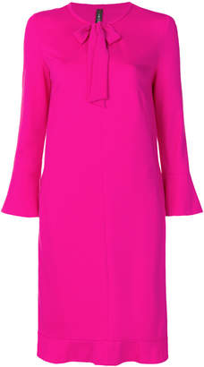 Marc Cain tie-neck ruffle-hem shift dress