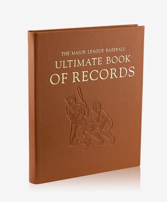 GiGi New York The Major League Baseball Ultimate Book of Records, Full Grain Leather