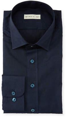 Etro Men's Mini Plaid Dress Shirt