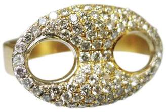 Estate 14K Yellow Gold Pave Diamond Ring Size 7
