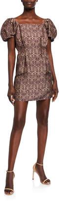 SIR the Label Siena Puff-Sleeve Mini Dress