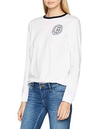 Lee Women's Ls Ringer T T-Shirt, (Midnight Blue Db)