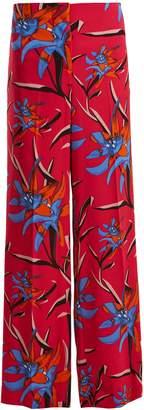 Diane von Furstenberg Harlow floral-print wide-leg trousers