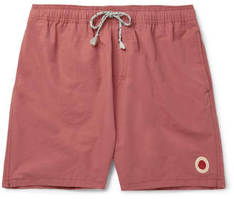 Mollusk - Long-Length Cotton-Blend Swim Shorts - Pink
