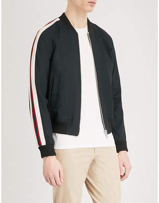 Sandro University woven bomber jacket