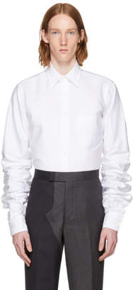 Thom Browne White Extra Long Sleeves Shirt