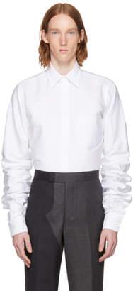 Thom Browne White Extra Long Sleeves Shirt