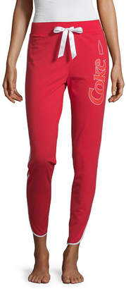 Novelty Licensed Coca-Cola Junior's French Terry Jogger Pajama Pants