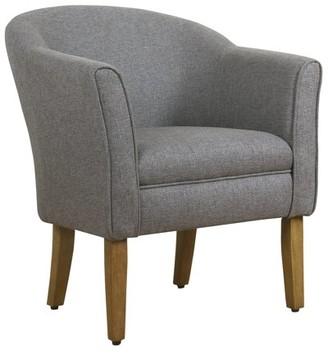 HomePop Modern Barrel Accent Chair, Multiple Colors