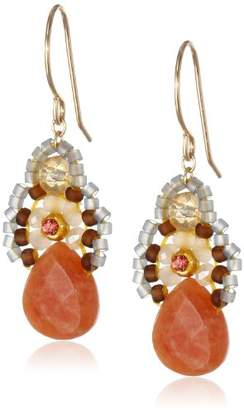 Miguel Ases Jade and Created Quartz Drop Earrings
