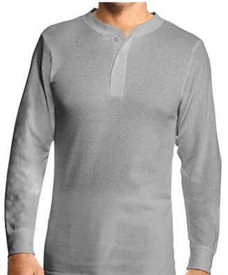 Hanes Men's X-Temp Thermal Longsleeve Henley Top - Extended Sizes