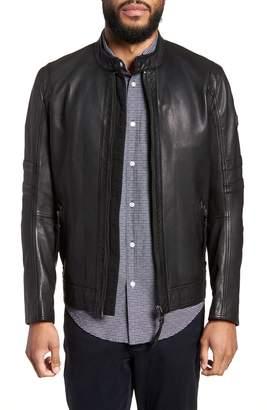 BOSS Jaylo Slim Fit Leather Moto Jacket