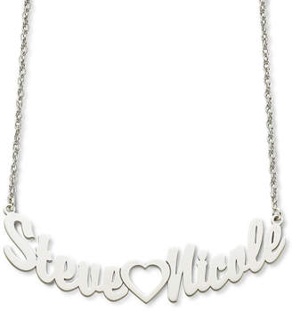 FINE JEWELRY Personalized Sterling Silver Couples Name Necklace