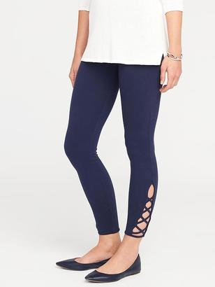Jersey Cut-Out Ankle Leggings for Women $16.94 thestylecure.com