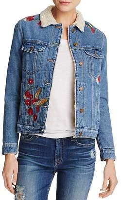 Mavi Jeans Katy Embroidered Denim Trucker Jacket