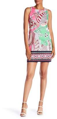 London Times Floral Sleeveless Shift Dress