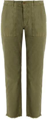Nili Lotan Jenna mid-rise cropped cotton-blend trousers