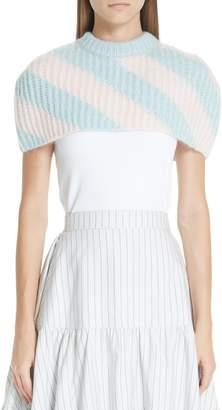 Calvin Klein Stripe Mohair & Wool Blend Shoulder Warmer