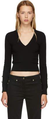 Versus Black Buttons V-Neck Sweater