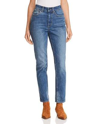 Rebecca Taylor Ines Kick Boot Jeans in Mid Tone Indigo