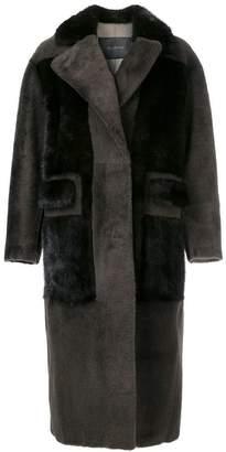Blancha long oversized shearling coat