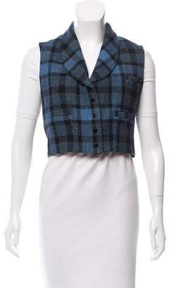 What Goes Around Comes Around Plaid Shawl-Lapel Vest