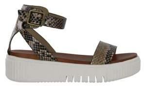 Mia Luna Snake Print Sandals