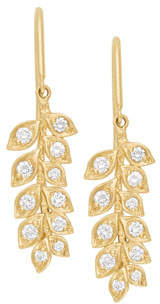 Jamie Wolf 18k Small Diamond Vine Drop Earrings
