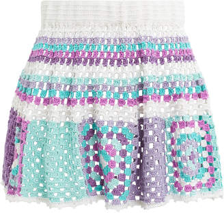 My Beachy Side Camelia Crochet Mini Skirt