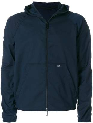 Emporio Armani hooded zip-up jacket