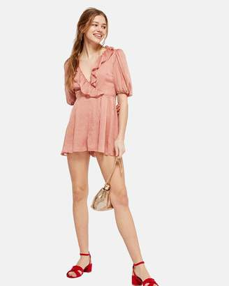 Topshop Metallic Spotted Playsuit