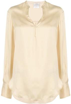 Forte Forte satin split neck blouse